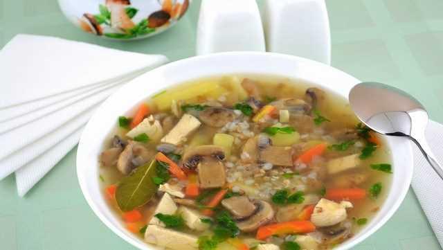 Суп грибной с шампиньонами и мясом рецепт