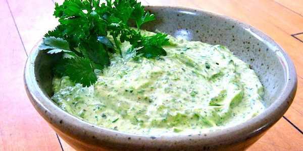 Зеленый  соус с петрушкой для рыбы рецепт
