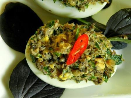 Яйца фаршированные грибами 2
