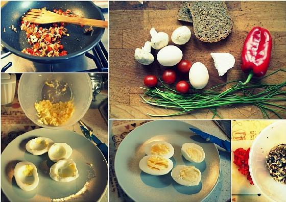 Яйца фаршированные творогом (5)