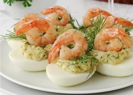 яйца с креветками рецепт с фото