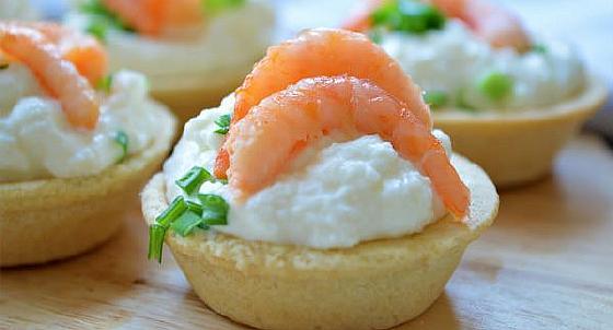 Tartaletki s krevetkami i syrom 3