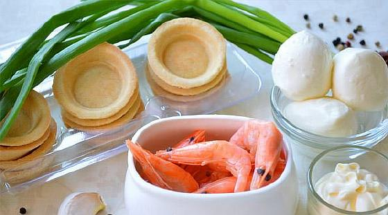 Tartaletki s krevetkami i syrom1