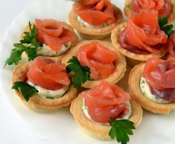 тарталетки с лососем рецепты