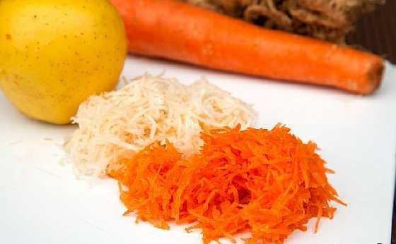 Salat s morkovi i vetchinoi (3)