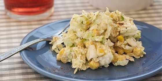 Salat iz kapusty i kukuruzy (5)