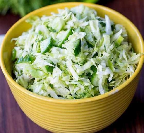 Калории салат из огурцов свежих