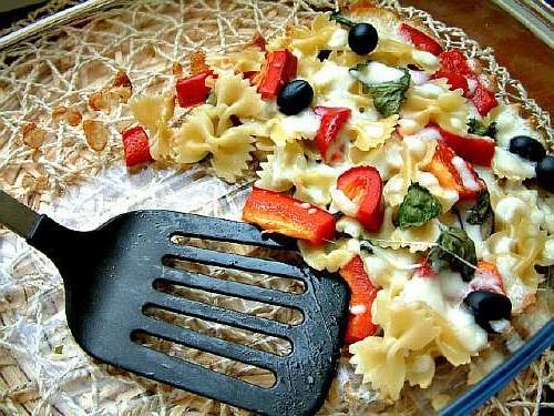 Запеканка из баклажанов с макаронами и овощами