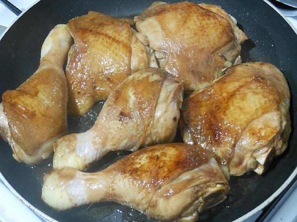 куриные ножки на сковородке