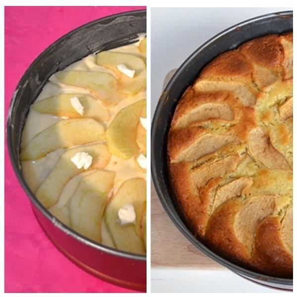 Вкусная шарлотка с яблоками на молоке